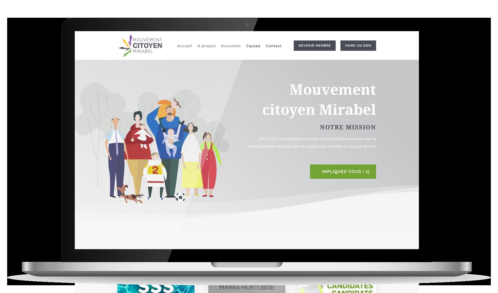 Site web réalisé par Mae Drolet
